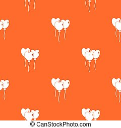 Three balloons in the shape of heart pattern seamless