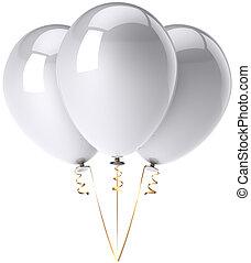 Three balloons total white