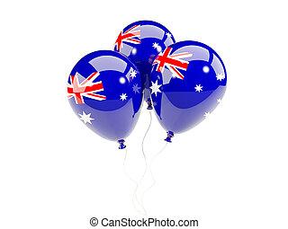 Three balloons with flag of australia