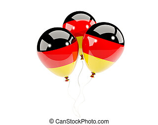 Three balloons with flag of germany