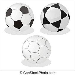 Three  balls on white background