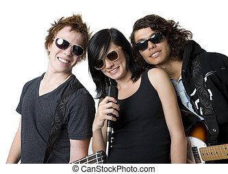 Three bandmates