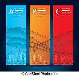Three banner templates