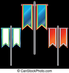 Three banners