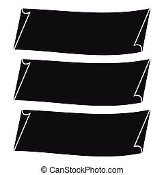 Three banners icon, simple style - Three banners icon....