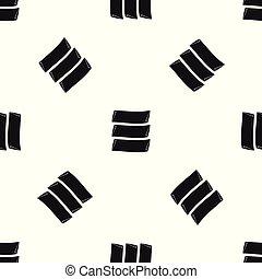 Three banners pattern seamless black - Three banners pattern...