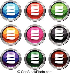 Three banners set 9 collection - Three banners set icon...