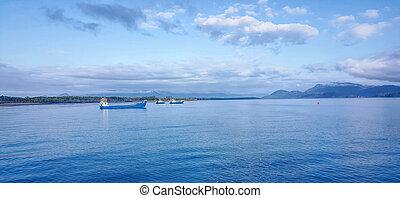 Three Barges at Lucinda Australia