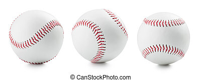 baseball ball  - three baseball ball on a white background