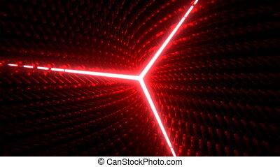 Three-beam Star VJ - Seamless looping abstract motion...