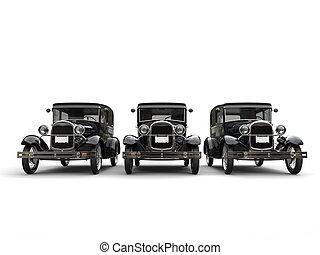 Three beautiful 1920s vintage cars