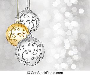 Three beautiful christmas balls