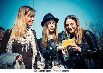three beautiful friends authentic