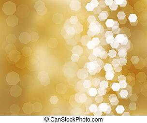 Three beautiful golden christmas balls