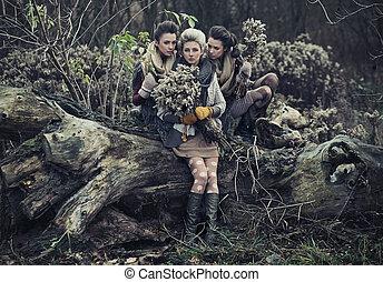 Three beautiful ladies