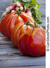 Three Beefsteak Tomatoes - Three Coeur de Boeuf Tomatoes and...