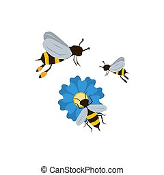 Three bees icon