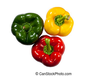 Three bell peppers.