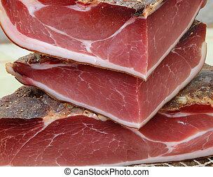 three big pieces of Bacon