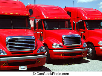 THREE BIG TRUCKS