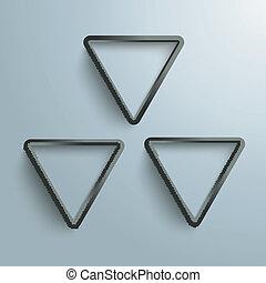 Three Black Triangles Radiactive Background