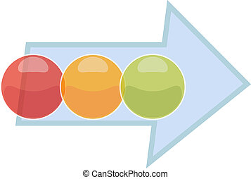 Three Blank business diagram process arrow illustration -...