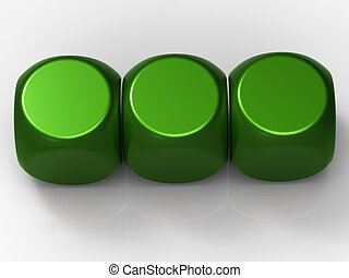Three Blank Dice Show Background For 3 Letter Word