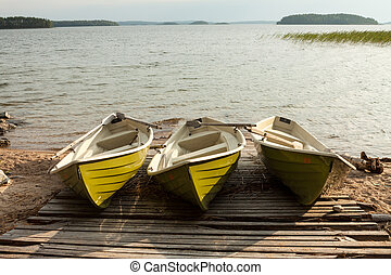 Three boats.
