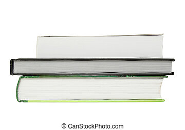 Three books isolated