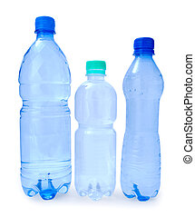 Three bottle isolated
