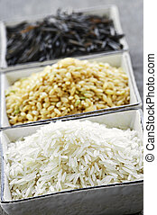 Three bowls of rice