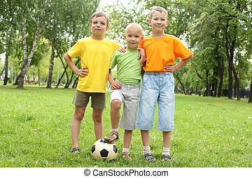 Three boys in the park