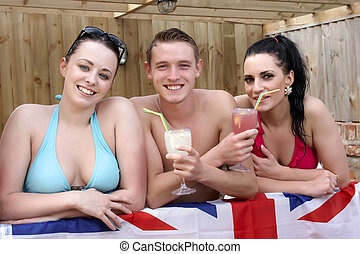 Three British young people