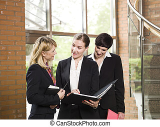 Three businesswoman in a meeting