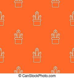 Three cactus pattern vector orange