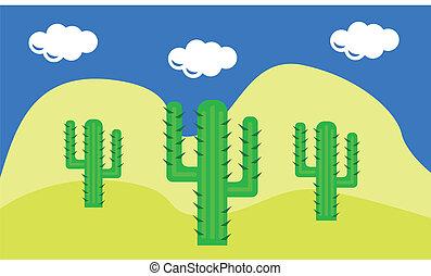 cactuses in the desert