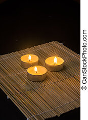 Three candles in spa