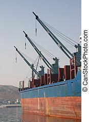 cargo ship cranes
