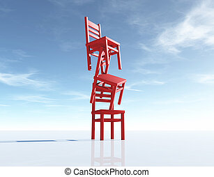 Three chairs in equilibrium
