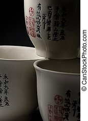 Three chinese cups
