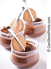 Three Chocolate Mousse Pots