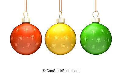 Three Christmas Ball Loop