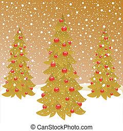three christmas tree