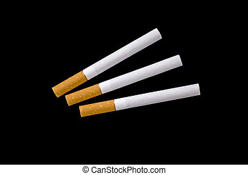 Three cigarettes - Isolated image of three cigarettes
