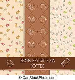 Three classic coffee patterns
