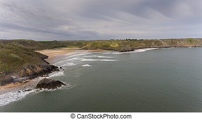 Three Cliffs and Pobbles Bay on Gower