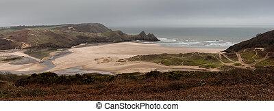 Three Cliffs Bay Panorama