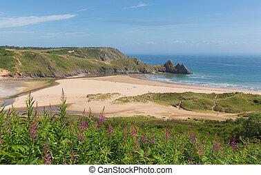 Three Cliffs Bay south coast Wales