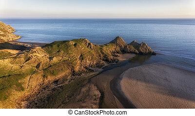Three Cliffs Bay South Gower