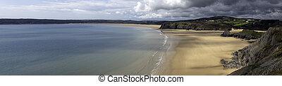 Three Cliffs Bay - Swansea, Wales, United Kingdom